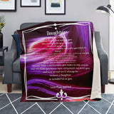 DAUGHTER #2 ALITUDE FONT Premium Microfleece Blanket - AOP