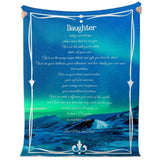 Blanket to Daughter from Mum and Dad #6 Premium Microfleece Blanket - AOP