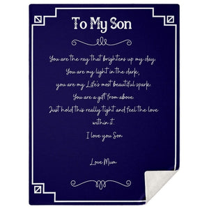 To My Son Blanket #1