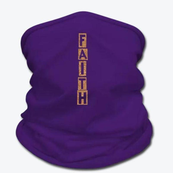 Faith Gaiter Scarf - Gold Glitter Scarves