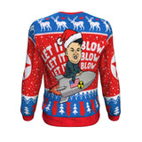 Let it Blow, Let it Blow, Let it Blow Ugly Christmas Sweatshirt Sweater 🎵🎵🎵 💥 Sweatshirt