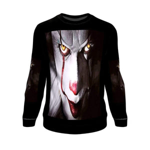 Halloween Scary White Clown Sweatshirt Sweatshirt