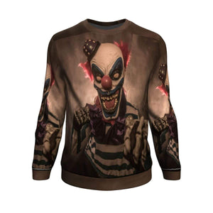Halloween Scary Clown Sweatshirt Sweatshirt