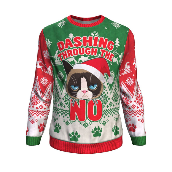 Dashing through the NO!!! Ugly Christmas Sweatshirt Sweater 😒😒😒 Sweatshirt
