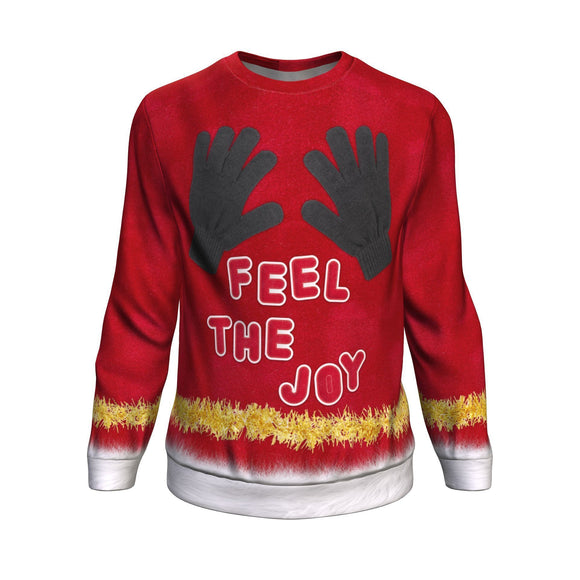 Feel the Joy of Christmas with this Ugly Christmas Sweatshirt Sweater 🖐️🖐️ Sweatshirt