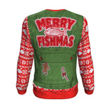 Merry Fishmas!!! Ugly Christmas Sweatshirt Sweater 🎣 Sweatshirt