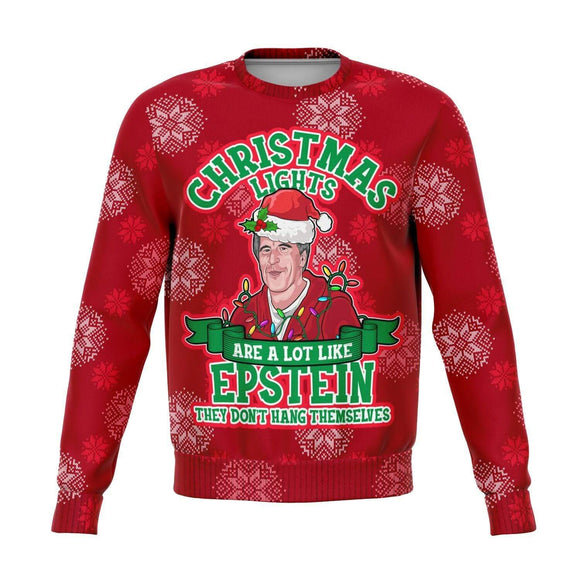Epstein Didn't Kill Himself Ugly Christmas Sweatshirt #5 Sweatshirts