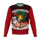 Get it on with Santa For One Night Only Ugly Christmas Sweatshirt - Sweatshirt