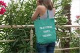 Canvas Tote Bag - I'm Just Here to Pet The Dogs Tote Bag