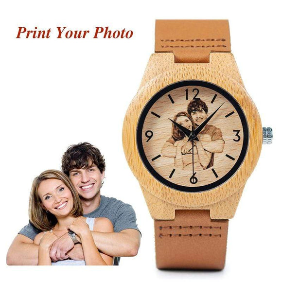 His and Hers Personalized Wooden Watch UV Printing Watches