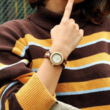Two Tone Quartz Wooden Watch Watches