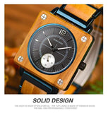 Wooden Men's Square Watch Watch