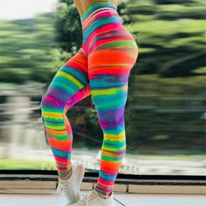 Sunset Glow High Waisted Yoga Leggings YOGA LEGGINGS