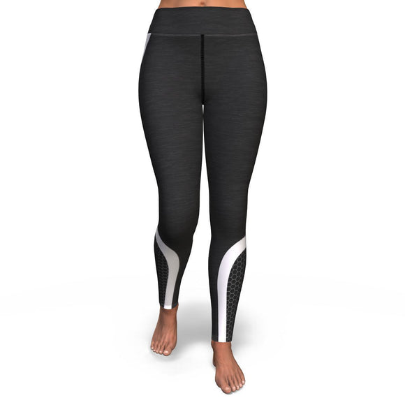 Hexagon Yoga Pants - Black/White Yoga Pants