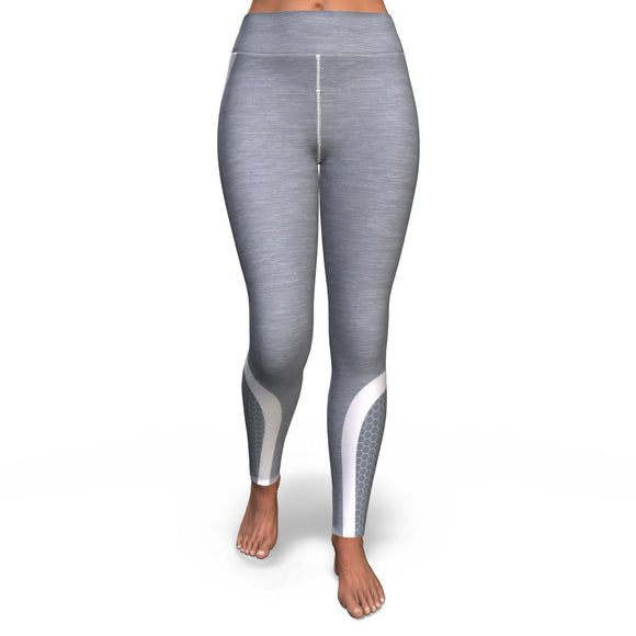 Hexagon Yoga Pants - Grey/white Yoga Pants