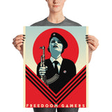 Freedoom Girl Soldier Poster