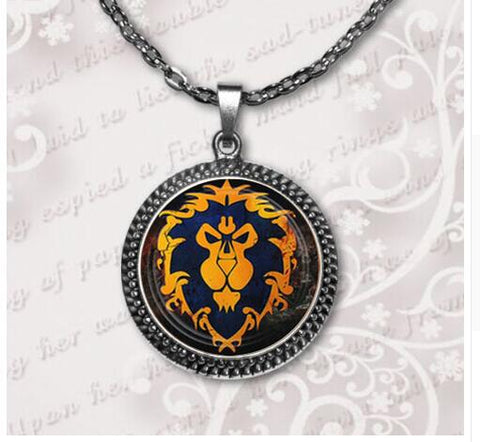 Alliance/ Horde Charm Necklace World of Warcraft