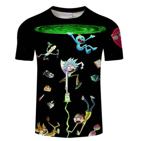 Rick and Morty 3D Print T-Shirt