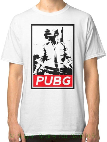Player Unknown Battleground Men's White T-shirt