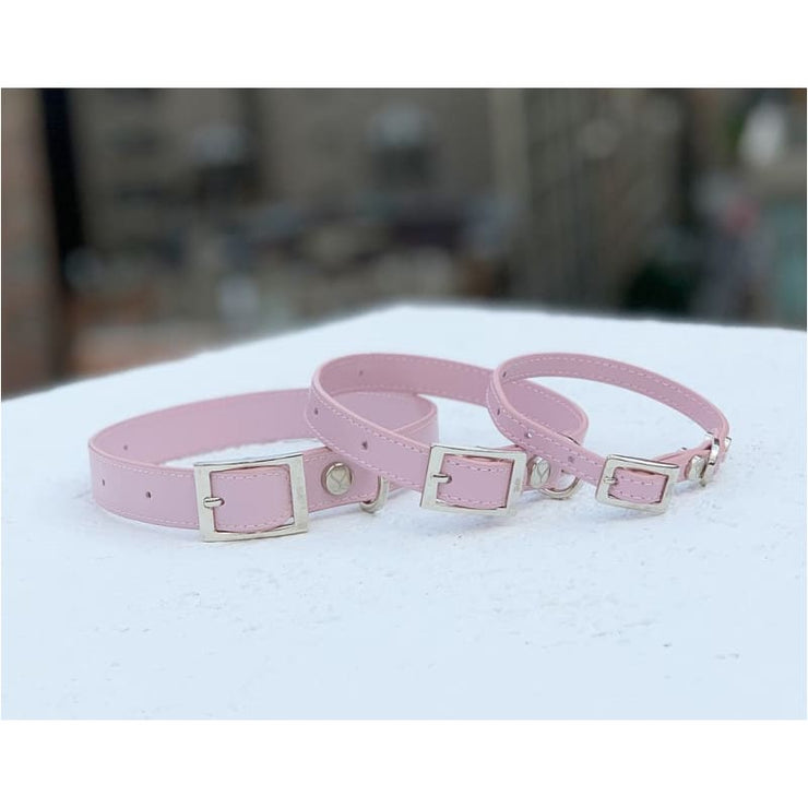 The Taylor Collar & Leash Collection - Blush Italian Leather NEW ARRIVAL