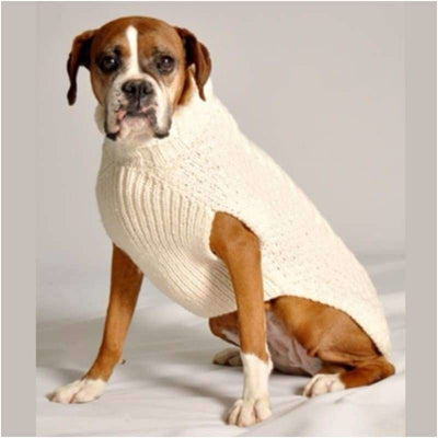 - Cable Knit Wool Dog Sweater Sweaters
