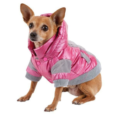 - Pink Vintage Aspen 3M Insulated Dog Parka NEW ARRIVAL PET LIFE