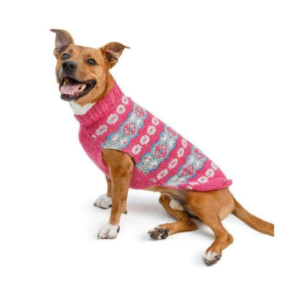Alpaca Rose Fairisle Dog Sweater clothes for small dogs, cute dog apparel, cute dog clothes, dog apparel, dog hoodies