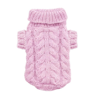 - Angora Cable Knit Dog Sweater Pink Hip Doggie New Arrival
