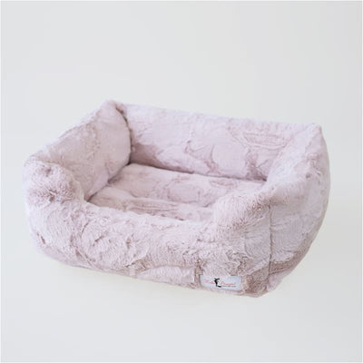 Luxe Dog Bed in Blush bolster beds for dogs, luxury dog beds, memory foam dog beds, orthopedic dog beds