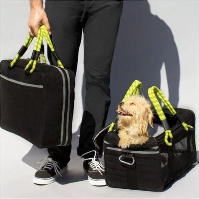 Pet Carrier & Carry-On Bundle Black/Yellow NEW ARRIVAL