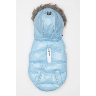 Ice Blue Elite Reflective Puffer Coat clothes for small dogs, COATS, cute dog apparel, cute dog clothes, dog apparel