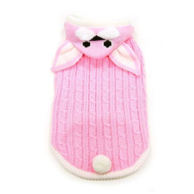 Bunny Hooded Sweater APPAREL clothes for small dogs, cute dog apparel, cute dog clothes, dog apparel, dog hoodies