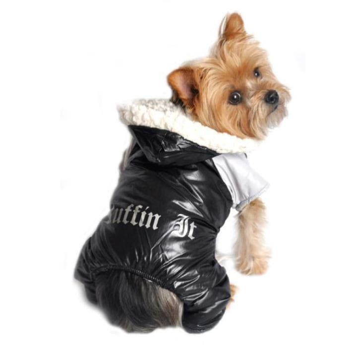 - Black Ruffin It Doggie Snowsuit clothes for small dogs COATS cute dog apparel cute dog clothes dog apparel