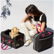 Out-of-Office Pet Carrier Black/Magenta NEW ARRIVAL