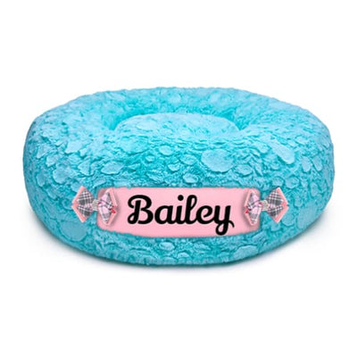 Bimini Blue & Puppy Pink Customizable Dog Bed NEW ARRIVAL