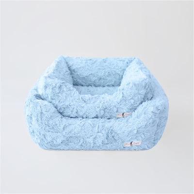 Siberian Gray Shag Bagel Bed bagel beds for dogs, cute dog beds, donut beds for dogs, NEW ARRIVAL