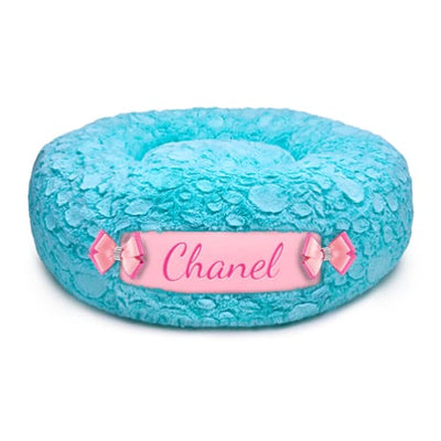 Bimini Blue Curley Sue & Puppy Pink Customizable Dog Bed NEW ARRIVAL