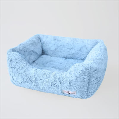 Bella Dog Bed in Baby Blue bolster beds for dogs, doggie designs, luxury dog beds, memory foam dog beds, orthopedic dog beds