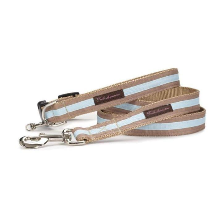 - Tan and Light Blue Stripe Dog Leash NEW ARRIVAL