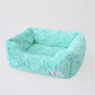 Bella Dog Bed in Mint bolster beds for dogs, doggie designs, luxury dog beds, memory foam dog beds, orthopedic dog beds