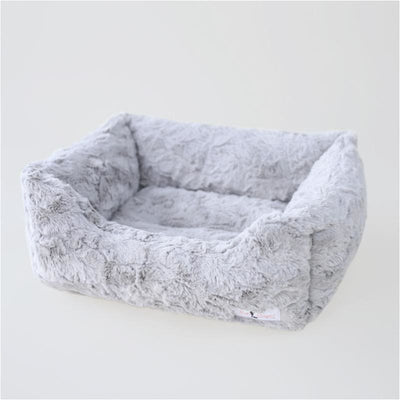 Bella Dog Bed in Silver bolster beds for dogs, doggie designs, luxury dog beds, memory foam dog beds, orthopedic dog beds