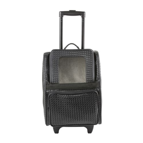 878d2466dd Rio Black Quilted Luxe 3-in-1 Dog Carrier On Wheels – Ruff Houzin