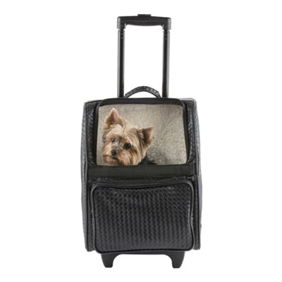 - Rio Black Quilted Luxe 3-In-1 Dog Carrier On Wheels