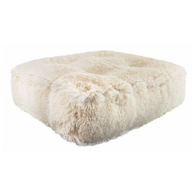 Sicilian Rectangle Blondie Shag Bed BEDS, bolster dog beds, NEW ARRIVAL, rectangle dog beds