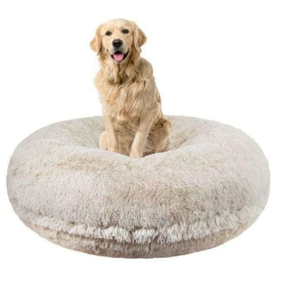 - Blondie Shag Bagel Bed BAGEL BEDS bagel beds for dogs BEDS cute dog beds donut beds for dogs