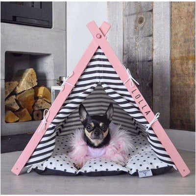 Baby Pink Pet TeePee etsy, luxury dog beds, teepee dog beds, teepee for dogs
