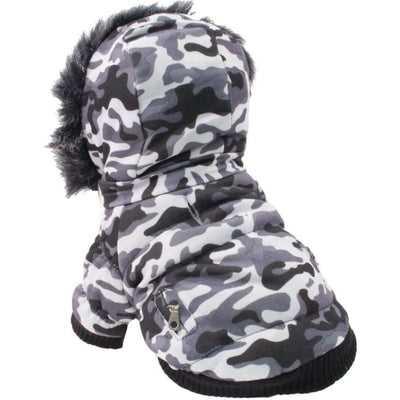 - Metallic Camo 3M Insulated Dog Parka NEW ARRIVAL PET LIFE