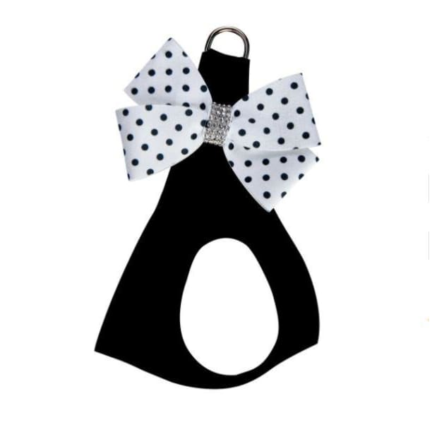 Black & White Polka Dot Nouveau Bow Step-In Harness