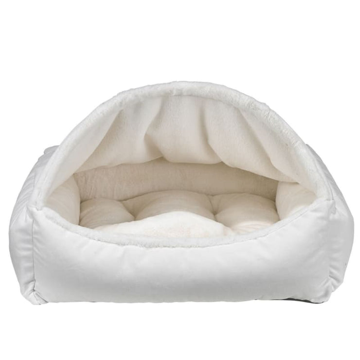 Microvelvet Canopy Dog Bed in Winter White NEW ARRIVAL
