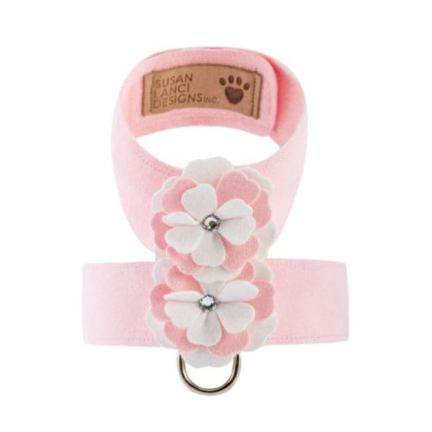 Puppy Pink Special Occasion Ultrasuede Tinkie Flower Harness